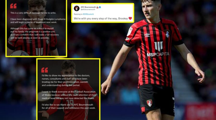 Bournemouth and Wales midfielder David Brooks reveals he has been diagnosed with stage two Hodgkin lymphoma