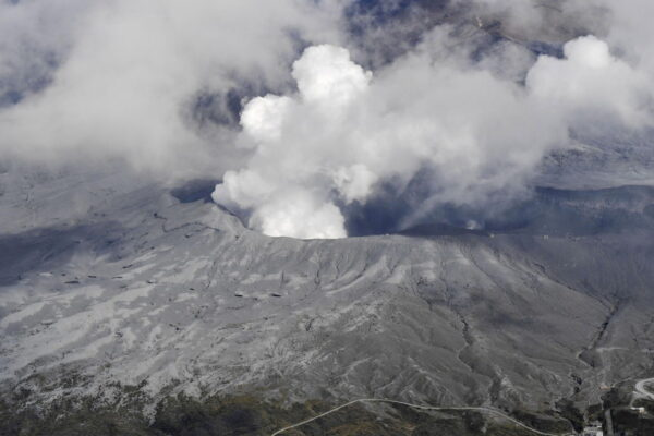 Japan's Mount Aso volcano erupts, spewing plumes of scorching fuel and ash (VIDEOS)