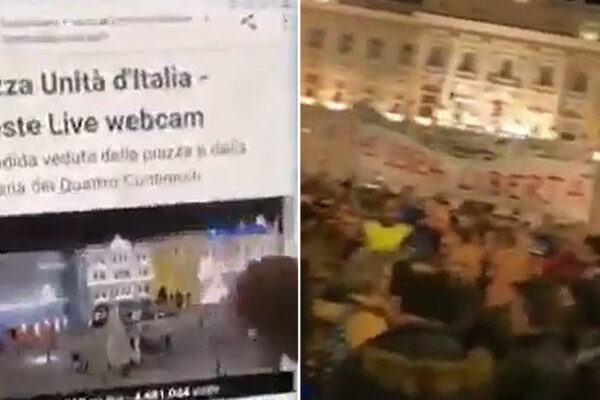 Protesters declare Italian authorities tampered with 'reside webcam' to indicate empty sq. as an alternative of big anti-vaccine-passport rally