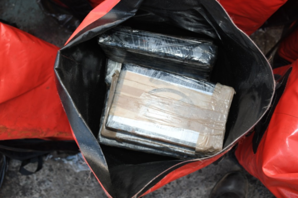 Document two-ton cargo of pure cocaine seized by Senegal's Navy after smugglers caught off nation's coast