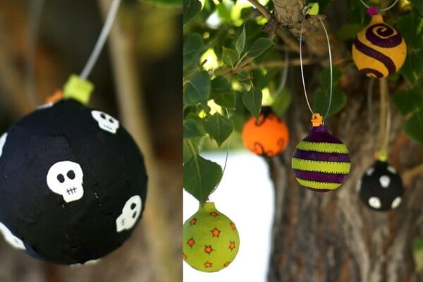 Upcycle Undesirable Vacation Ornaments for Halloween