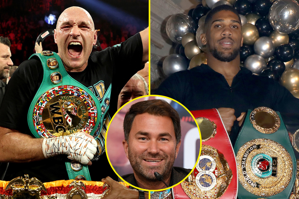 Eddie Hearn confirms Anthony Joshua and Tyson Fury fight 'almost 100%' goes ahead in 2021, but Gypsy King will NOT be at Joshua vs Pulev this weekend