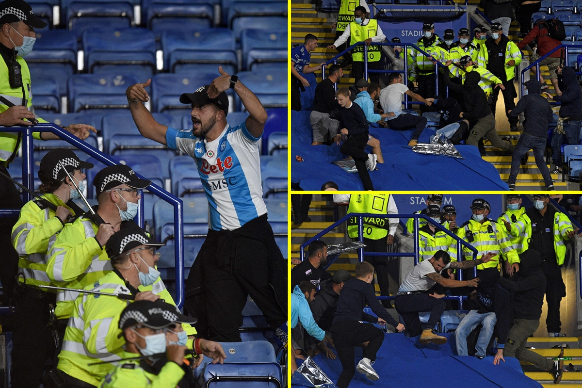 Missiles thrown and police intervene to cease violence as Leicester and Napoli followers conflict at King Energy following entertaining Europa League draw